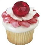 BIG Red Ruby Ring Cupcake Topper Cupcake Pick ~ Dazzle!