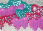 Just Darling Polka Dot BOWS Rings Cupcake Toppers Party Favors