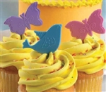 BIRDS & BUTTERFLIES Welcome Spring Colors Cupcake Topper Picks Tweet Sweet