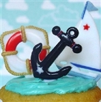 Nautical Cupcake Picks Toppers Sail BOATS ANCHOR Life Preserver