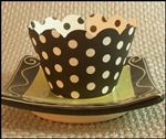 FUN Black & White Polka Dot Reversible Cupake Wrappers 12