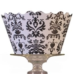 Black & White Damask Cupcake Wrappers ~ Touch of Elegance