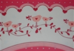 24pc Pink DARLING Lovebirds Hearts Reversible Cupcake Wrappers Tweet tweet