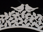 Ivory Colored LOVEBIRDS Laser Cut Cupcake Wrappers Weddings Showers CUTE!