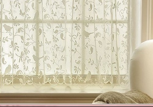 Kitchen Curtains bird kitchen curtains : Gorgeous ~ BIRDS ~ Lace Curtain 30