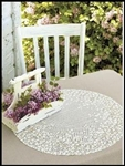 "12"" Round Airy White Lace Doily Blossoms ~ Doilies!"