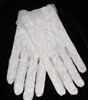 All white lace gloves for ages 8-12 years Flower Girl Special Ocassion