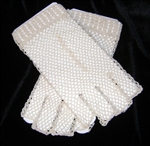 Fingerless Gloves Classis IVORY Crocheted Lace Pretty for BRIDES