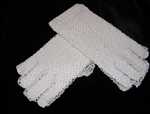 Fingerless Gloves Classic White Crocheted Lace Pretty for BRIDES
