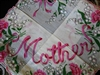 MOTHER Hidden Message Vintage Hankie Hanky Exquisite Carnations Lily Valley