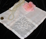 All White Handkerchief Embroidered Bouquet Replique Hem Beautiful