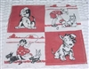 Red & Black Dogs & Kids Hankie Hanky So CUTE