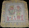 Vintage Handkerchief Hanky Boy Girl Bunnies & Chicks Signed Masha Yellow