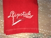 Lipstick Hankie RARE Smoking Cigarette Embroidered Red Linen Handkerchief