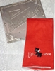 Lipstick Hankie Handkerchief Cutest Black Scotty Dog embroidered on RED