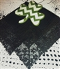 Irish Linen & Shamrock Black Lace Handkerchief Made in Ireland
