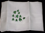SHAMROCKS Embroidered Mens Handkerchief Hankie Irish!