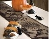 "Black Lace HALLOWEEN Table Runner 72"" Haunted Mansions Witch Ghost Pumpkin"
