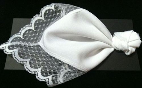 Tie The Knot White Lace Wedding Handkerchief Renew An Old Tradition