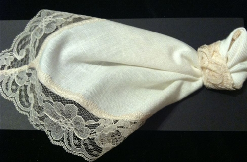 Tie The Knot Ivory Lace Wedding Handkerchief Renew An Old Tradition