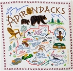 Adirondacks New York Fun Souvenir Towel Great Graphics Fun!
