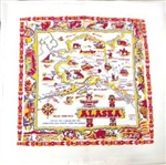ALASKA State Map Flour Sack Towel Great to Frame too!
