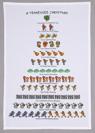 tennessee whimsical 12 days of christmas kitchen towel fun - 12 Days Of Christmas Hawaiian Style