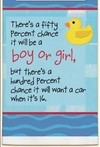 50% Chance Its a Boy or Girl Darling Towel for Baby Shower Have to See!