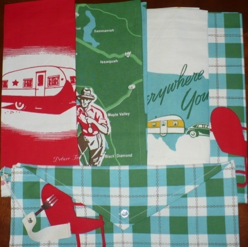 S 4 Fun Retro Kitchen Towels Glampers Silver Star Camper