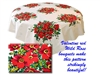 Red Wild Roses Vintage Look Tablecloth Like Wilendur Design A Retro Gem