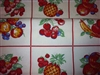 Retro Tablecloth Fabric Table Runner Bright Fruits Like Grandmas 48""