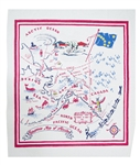 ALASKA State Map Souvenir Vintage Style Tablecloth Red White Blue