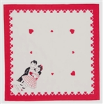 Retro Vintage Valentine Napkins Darling Boy & Girl Key to my Heart Design