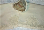 Hand Crocheted Irish Trimmed Ecru Pillowcases Standard Vintage Look