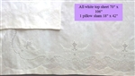 Gorgeous White on White Embellished Twin or 3/4 Sheet Pristine!