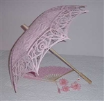 Parasol PINK Belgian Lace Umbrella WEDDINGS