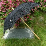Parasol BLACK Battenburg Lace Umbrella LOVELY