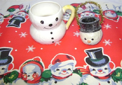 snowflake table decorations.htm vintage snowman snow people christmas table runner red snowflakes  christmas table runner red snowflakes