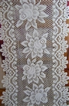 "Cream Traditional Rose Lace Table Runner 72"" Victorian Beauty"