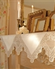 LOVELY Handkerchief Style Lace Mantle Scarf Ivory