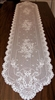 Feminine Airy Lace White Table Runner Scarf Florals Scalloped 72""