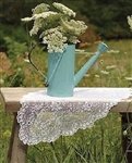 Feminine Airy Lace WHITE Table Runner Scarf Florals Scalloped 38""
