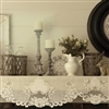 "Vintage Rose Victorian Shabby Lace Mantle Scarf Runner 90"" Ivory"