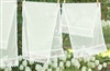 Timeless Classic Elegance White Pinstripe Runner Gorgeous Lace Trim 60