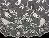 "Tweet Tweet Darling Birds Ivory Lace Table Topper Tablecloth 45"" round"