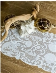 Beautiful White Lace Runner Mermaids & Shells Beach Design 14 x 40