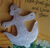 A Vintage Carved Mother of Pearl MOP Anchor Button Awesome 1.5""
