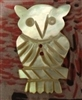 A Vintage Carved Mother of Pearl MOP Button Owl Fall Halloween Forest