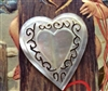 A Vintage Carved Mother of Pearl MOP AMAZING Beautiful Large Heart Button