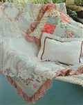Charming Traditional White Lace 36 in Table Topper Tablecloth Chic Roses